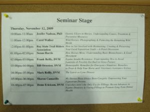 Day one schedule  for educational lectures