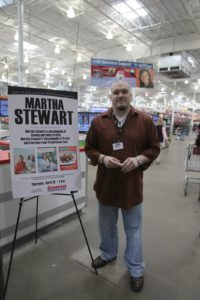 Eric, in charge of fax and pull, has worked at Costco since 1996.  He greeted shoppers at the door and handed out tickets for the book signing.