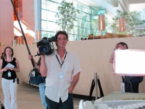 Our TV crew met us in the lobby.  The first day of the shoot was also director of photography - Gary Nardilla's birthday!