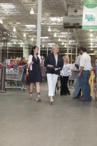 Here I am walking through the store to where the book signing area was set up.