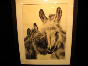 Betsy loved this print - these donkeys look just like Clive and Rufus!