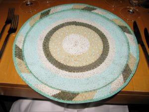 These place mats are woven by a community of blind artisans and sold in gift shops in South Africa - they are really well-made.