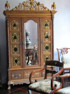 The house is full of gorgeous, ornate furniture from the Peranakan era.  I loved this armoire in the main bedroom.