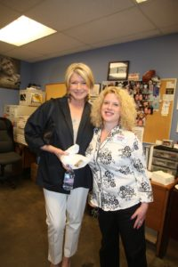 Here I am with Kate Waldon, the assistant general manager.  She began working at Costco in 1991.