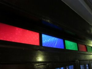 Panels of stained glass