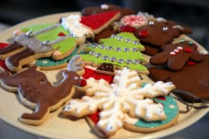 Christmas cookies, decorated by TV's Dani Fiore, were a very big hit at the annual Cantitoe Farm Christmas party. Personally, it is heartbreaking to see the head of a gnome chomped off, when it took 30 minutes to decorate!