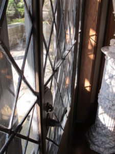 Skylands has many, many beautiful leaded glass windows.  Fortunately, when Edsel Ford built this estate, he used the finest craftsmen and materials.  Most of the windows are still in great shape.
