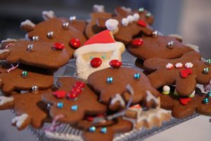 Different gingerbread cookies - everyone loved them.