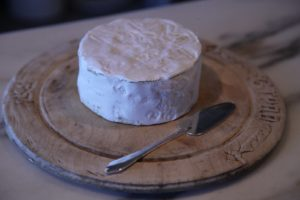 A triple cream French cheese was rich and runny.