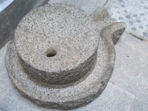 A traditional grinding stone