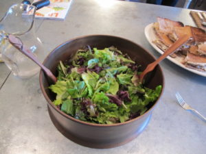 This leafy salad was amazing.