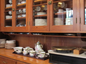 The butler's pantry is filled with amazing sets of China, left there by the previous owners.