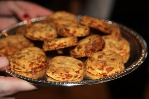 Cheddar biscuits were great with ham.