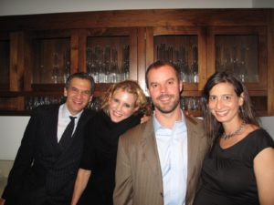 Michael, Alexis, Kent Motland - husband of Nikik Elkins - TV chef/kitchen manager