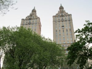 A view of the El Dorado building, which peers into Central Park from Central Park West and 90th Street