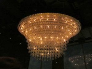 At New Asia, there is a majestic chandelier.