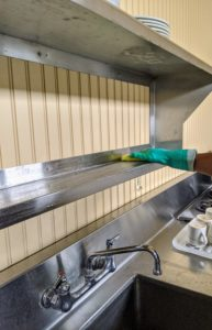 Stainless steel is a great material for kitchen areas. It is industrial strength, durable, shiny, nonporous and easy to clean and disinfect.