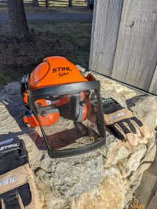 STIHL also brought some very important protective workwear - the crew will be very comfortable in these specially designed helmets and gloves. It's important to me that every member of the crew is well-outfitted and protected to work with any and all power tools.
