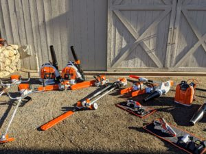 STIHL delivered a variety of great tools for us to use for different tasks here at my farm - some are battery operated and others are gas-powered.