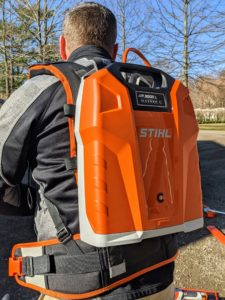 The backpack battery is also designed with comfort in mind, including an ergonomic hip belt and chest strap that evenly distribute its weight.