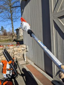 And, with an adjustable shaft, the telescoping pole pruners can cut branches up to 16 feet above the ground.
