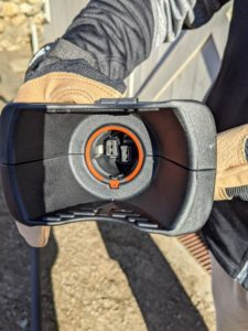 The batteries are easy to use in all the battery-operated products from STIHL. These batteries just snap and click in place.