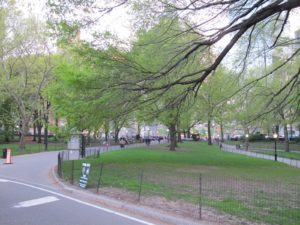 The Merchants Gate entrance at 59th Street and Central Park West