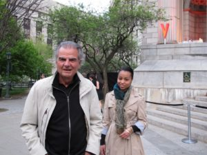 This is Patrick Demarchelier - famous fashion photographer - he shot my first photo back in my modeling days.