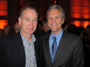 John McEnroe - tennis great and John Sykes - Co-founder of MTV