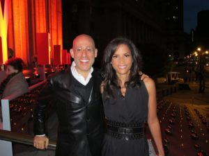 Peter Arnell with the beautiful Veronica Webb