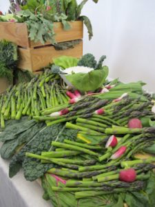 Crudites were made from beautiful asparagus and radishes from the Greenmarket.