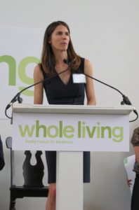 Alex Postman, editor-in-chief of our Body+Soul magazine, which will change names to Whole Living magazine with the June issue, addressing the crowd