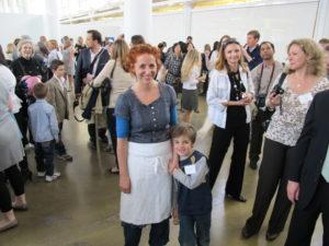 Sarah Carey and her son