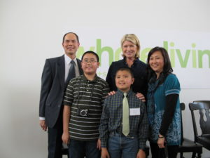 With 5th grade winner Brian Wong and his family