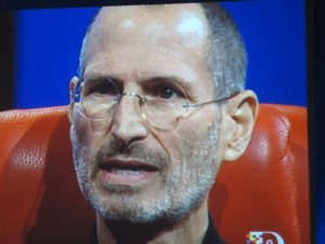 Steve Jobs looks great!  He really wants to be number one in hand-helds, ahead of Nokia and Rim.