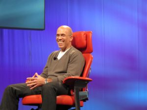DreamWorks CEO Jefffrey Katzenberg spoke about how great the Apple iPad is as a learning tool for everyone, including toddlers.