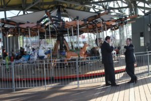 This is the carousel at Pier 62.