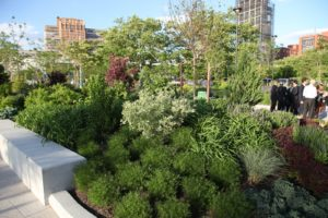 The attractive gardens of Hudson River Park were designed by Lynden B. Miller, a renowned public garden designer in New York City.