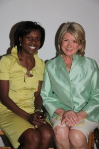 Here I am sitting with the the host of the evening, ABC's Deborah Roberts.