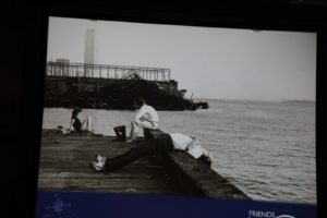 We were shown photos of some dramatic changes made to the Hudson Riverfront - here is the before...