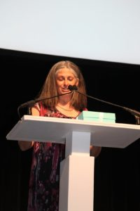 Connie Fishman - President of Hudson River Park Trust -  presenting the Public Service Award