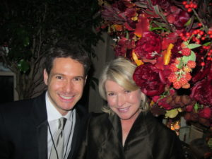 Here I am with Bronson Van Wyck - event planner for this party.