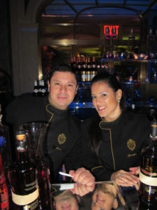 Well-dressed bartenders - Ciroc vodka was a sponsor for the evening.