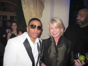 I was happy to meet the rapper, Nelly.
