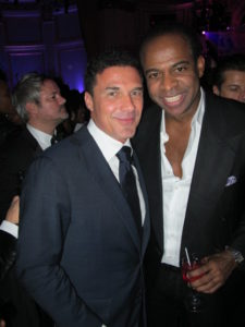 Andre Balázs (left) - New York City hotelier - with Frederick Anderson
