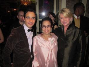 Designer Zac Posen, his mother, Susan, and me