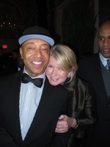 Here I am with entrepreneur, Russell Simmons.