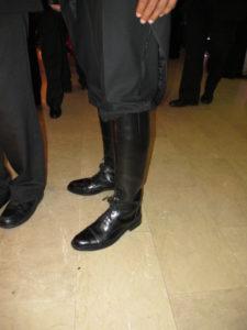 Closeup of Dards riding boots