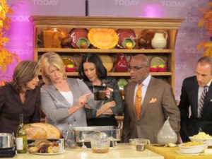 I had a Martha Stewart gravy separator from Macy's on set - everyone was fascinated with it.