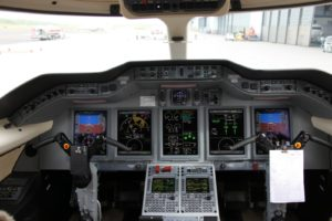 A view of the cockpit